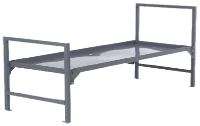 metal pan bed