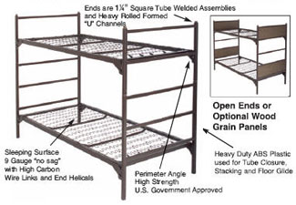 military supply house - bunk beds - u.s. military bunks - beds