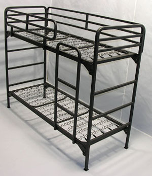 Military supply house bunk beds u s military bunks for Narrow width bunk beds