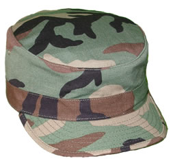 Hot Weather Hat Woodland Camo Woodland Camo 11US-NPX01 100% Cotton Ripstop  Made by a military contractor. Sizes 7 7386e93ba1c4